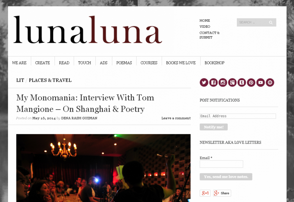 Tom Interview with Luna Luna